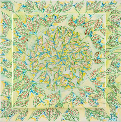 Mandala mit Blatt