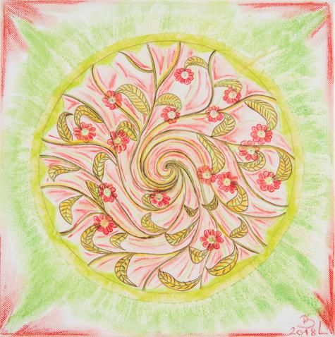 Mandala mit Blumenmotiv